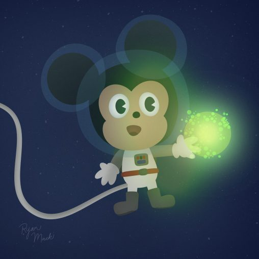 Mickey Mouse in Space